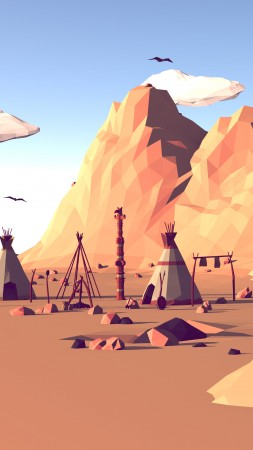 polygon, landscape, nature, low poly, 3D