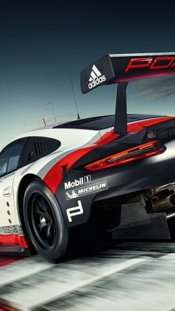 Porsche 911 RSR, sport car, racing (vertical)
