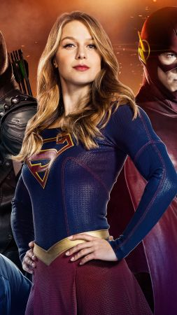 Arrow, Supergirl, Flash, Legends of tomorrow, TV Series (vertical)