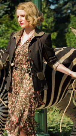 The Zookeeper's Wife, Jessica Chastain, zebra, best movies (vertical)
