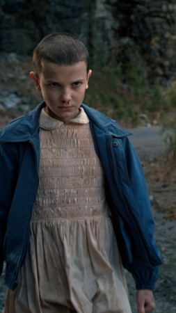 Stranger Things, Millie Bobby Brown, season 1, horror, best tv series (vertical)