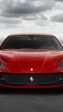 Ferrari 812 Superfast, supercar, front (vertical)