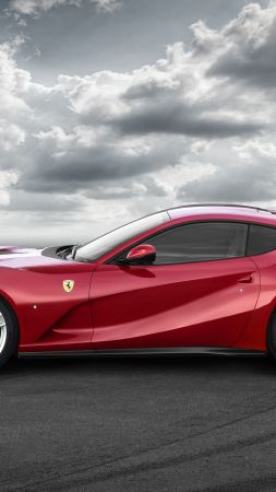 Ferrari 812 Superfast, supercar, side (vertical)