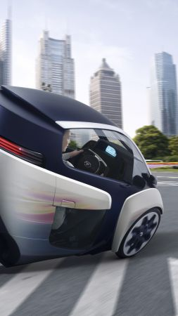 Toyota i-Road, electric cars, 2017 Chicago Auto Show