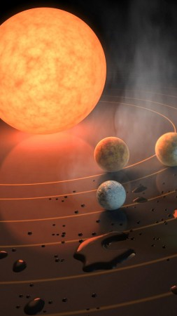 TRAPPIST-1, exoplanet, star, planets (vertical)
