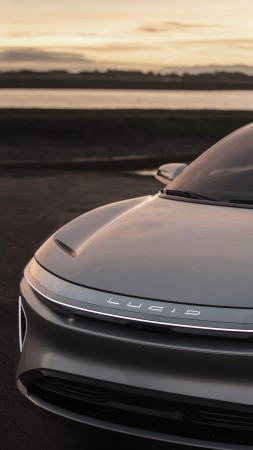 Lucid Air, electric cars, front (vertical)