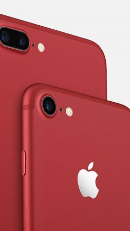 iPhone 7 Plus Red, iPhone Red, iPhone 7 Red, best smartphones, Apple Red (vertical)
