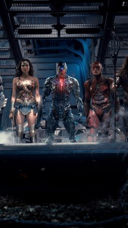 Justice League, Batman, Wonder Woman, Aquaman, Flash, Cyborg, DC Comics, best movies (vertical)