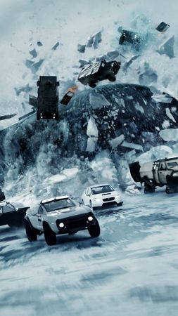 The Fate of the Furious, racing cars, best movies (vertical)
