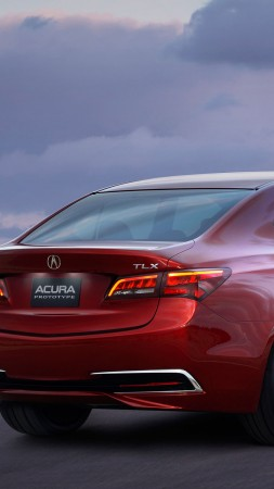 Acura TLX, red, 2017 New York Auto Show (vertical)