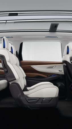 Subaru Ascent, concept, interior, 2017 New York Auto Show (vertical)