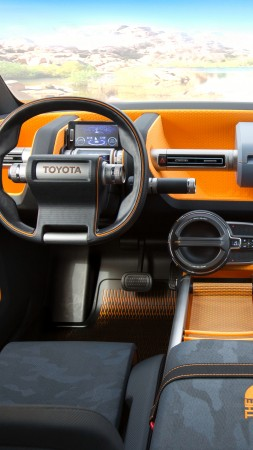 Toyota FT-4X, concept, orange, interior, 2017 New York Auto Show (vertical)