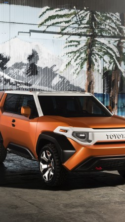 Toyota FT-4X, concept, orange, 2017 New York Auto Show
