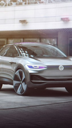 Volkswagen I.D. HD wallpaper, Crozz, electric car, Shanghai Auto Show 2017, concept (vertical)