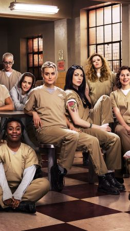 Orange is the new black, full cast, prison, Taylor Schilling, Laura Prepon, Best TV Series (vertical)