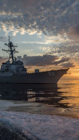 USS Lassen (DDG-82), Arleigh Burke-class, guided missile destroyer, USA Navy (vertical)
