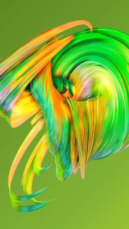 HD, abstract, Paintwaves, green (vertical)