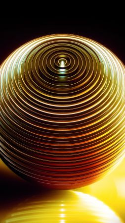 HD, abstract, 3D, sphere, Medaltations (vertical)