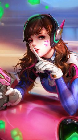 DVa, 4k, HD, Overwatch, D.Va (vertical)