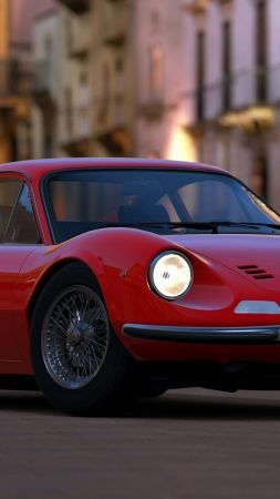 Ferrari Dino, red, HD, 4k, Swiss Classic World (vertical)
