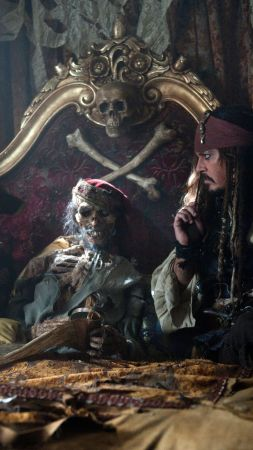 Pirates of the Caribbean: Dead Men Tell No Tales, 4k, 8k, Johnny Depp (vertical)