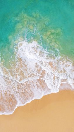 iOS 11, 4k, 5k, beach, ocean (vertical)