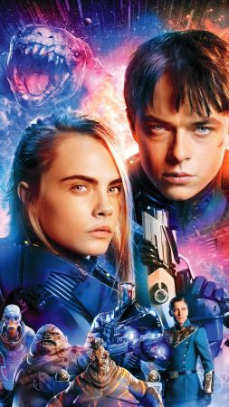 Valerian and the City of a Thousand Planets, Dane DeHaan, Cara Delevingne (vertical)