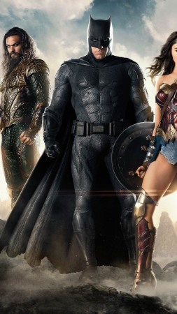 Justice League, Movie, Batman, Wonder Woman, 4k (vertical)