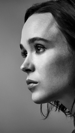 Ellen Page, 4k, photo (vertical)
