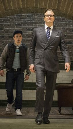 Kingsman: The Golden Circle, Colin Firth, Taron Egerton, 5k (vertical)