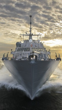 USS LCS-3, USS, LCS-3, Fort Worth, littoral, Freedom-class, combat ship, U.S. Navy, USA Army, sea (vertical)