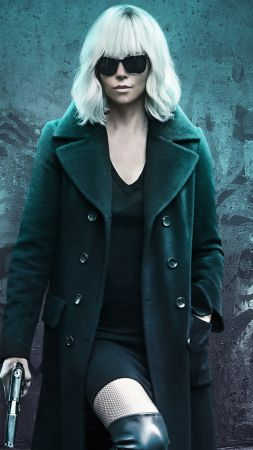 Atomic Blonde, Charlize Theron, 4k (vertical)