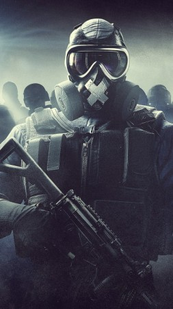 Mute, Kapkan, Rainbow Six Siege, Tom Clancy's, 4K (vertical)