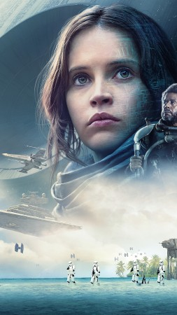 Rogue One: A Star Wars Story, Felicity Jones, 12k (vertical)