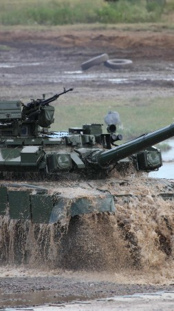 Т-90АМ, Т-90МС, tank, MBT, modification, Russian Army, Russian Ground Forces, military vehicles, dirt