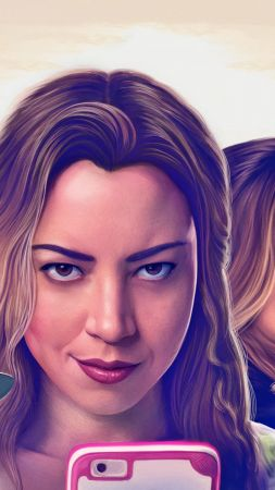 Ingrid Goes West, Aubrey Plaza, Elizabeth Olsen, O'Shea Jackson Jr., 4k (vertical)