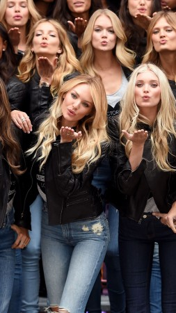 Behati Prinsloo, Alessandra Ambrosio, Candice Swanepoel, Elsa Hosk, Adriana Lima and Karlie Kloss, model, Victoria's Secret Angel, fashion, group photo