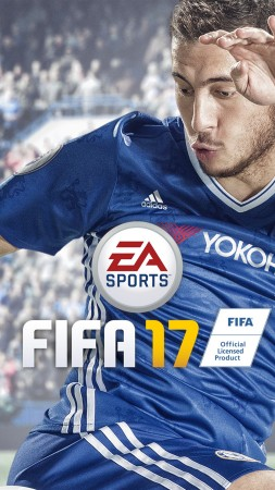 FIFA 17, 8k, Eden Hazard, screenshot, E3 2017 (vertical)