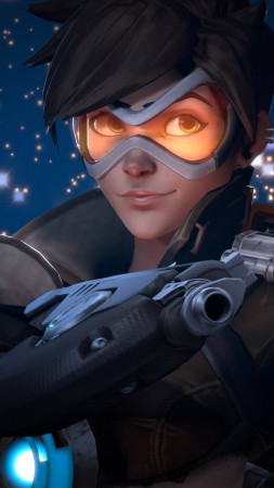 Overwatch, Tracer, 4k (vertical)
