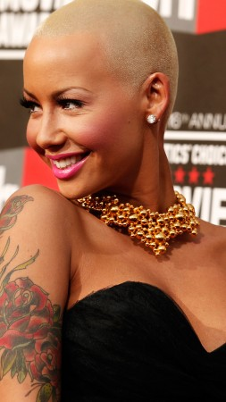 Amber Rose, hot, 4k (vertical)