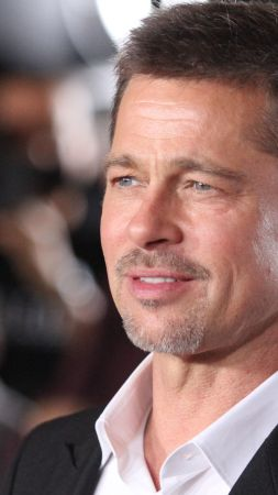 Brad Pitt, photo, 4k (vertical)