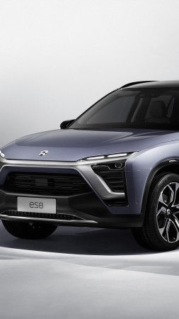 NextEV, NIO ES8 SUV, electric cars, 2018 Cars, 4k (vertical)