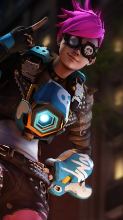 Overwatch, Punk Tracer, screenshot, 5k (vertical)