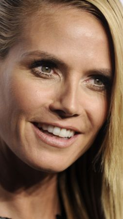 Heidi Klum, beauty, 4k (vertical)