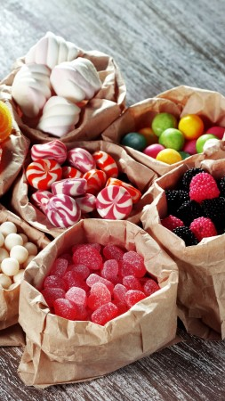 candy, marmellou, jellies, blackberries, delicious, 5k (vertical)