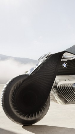 BMW Motorrad vision next 100, motorcycles of future, 4k (vertical)