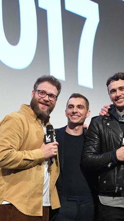 The Disaster Artist, James Franco, Dave Franco, Seth Rogen (vertical)