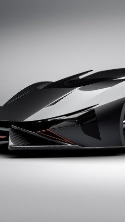 Lamborghini Diamante, Electric cars, Concept, 4k, 3D (vertical)