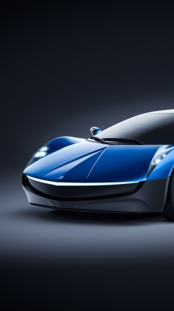 Elextra Electric Sedan, Electric cars, Concept, 4k (vertical)