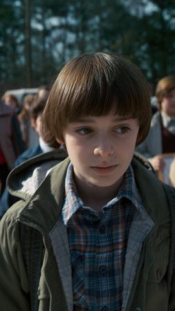 Stranger Things, season 2, TV Series, Noah Schnapp, 8k (vertical)